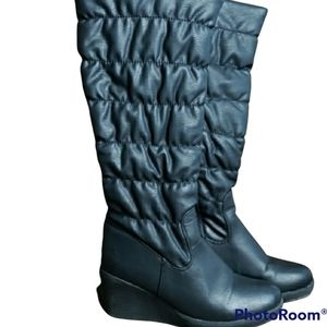 Vanessa's Secret Lined Wedge Knee High Boots Size 38eur